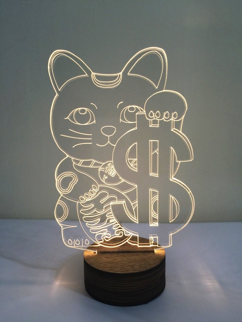 LightXLife 3D Night Light - Lucky Cat