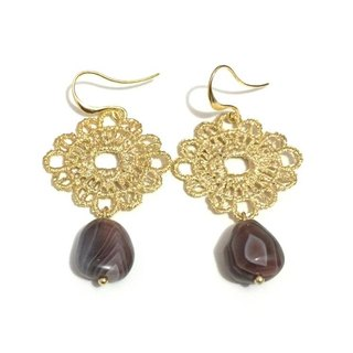 Lovely Agate Dangling Earrings