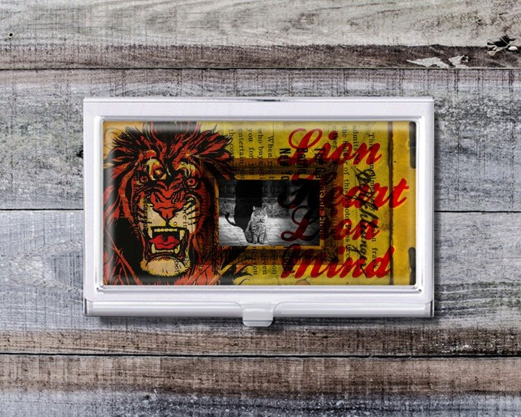 Cats and Lions - Business Card Holders / Card Cases / Office Workers Accessories [Special U Design