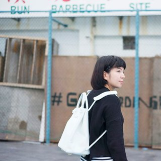 3-way Canvas backpack (White Color)