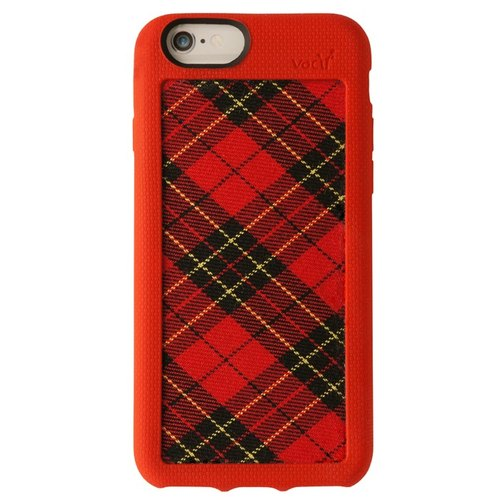 Vacii Haute iPhone6 ​​/ 6s red checkered cloth protective sleeve