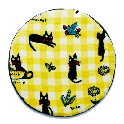 Noafamily, Noah tie cat blueberry winter cushion _Y (H670-Y)