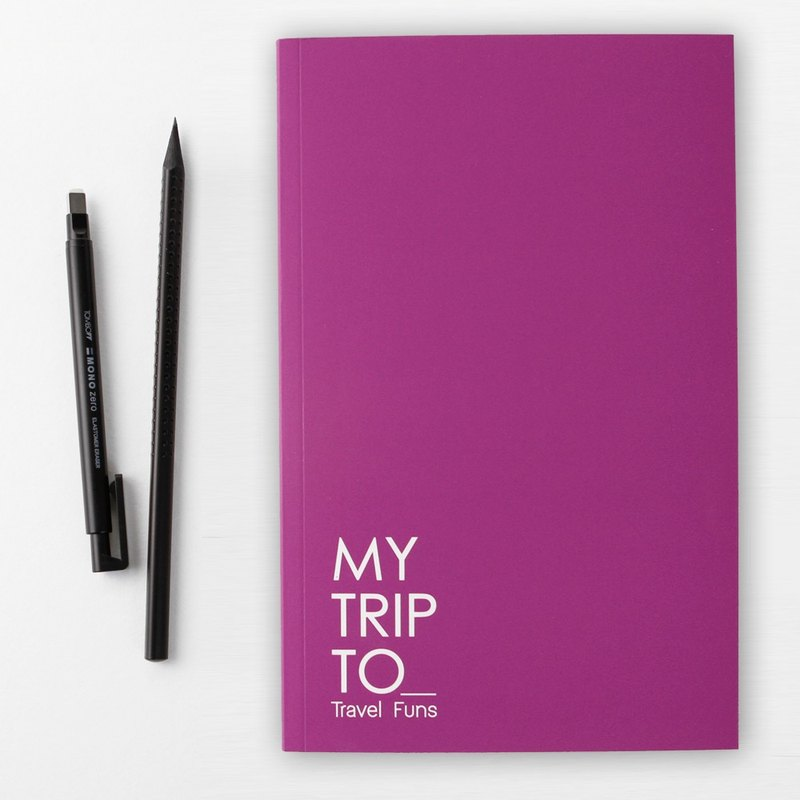 [Travel Funs] Step-by step Planning Travel Notebook (Purple)