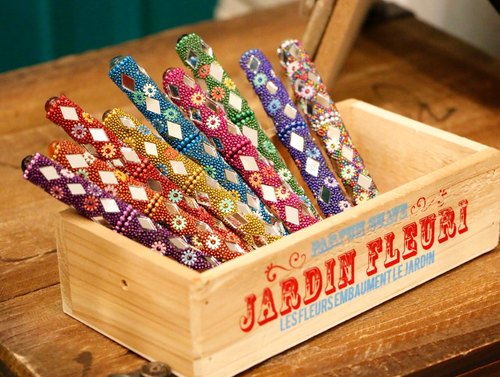 Japaindia (BJ1507029) India handmade sparkling diamond colorful pens