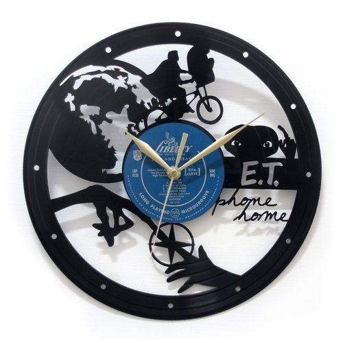 [Time Traveler 1888] vinyl clock. E.T Phone Home