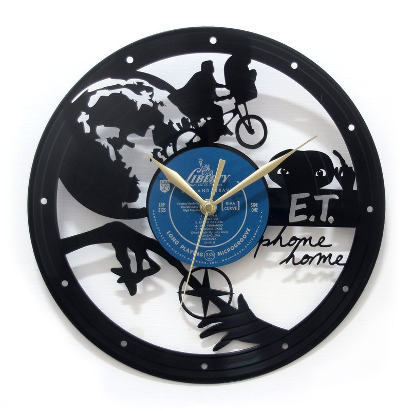 ET-black plastic clock