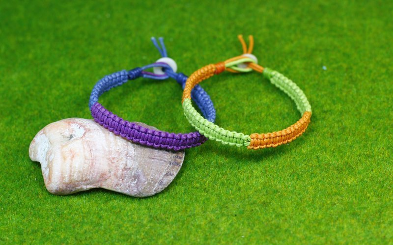 TvT / square knot braid bracelet