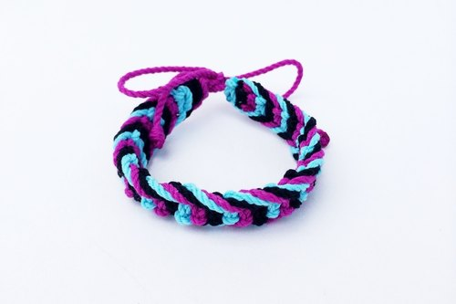 Blue-purple tricolor braid
