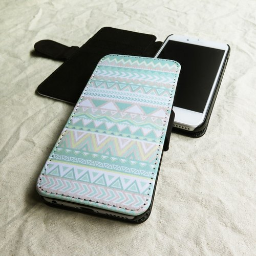 Pastel, Tribal Geometric, - Designer,iPhone Wallet,Pattern iPhone wallet