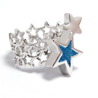 Handmade Blue star ring