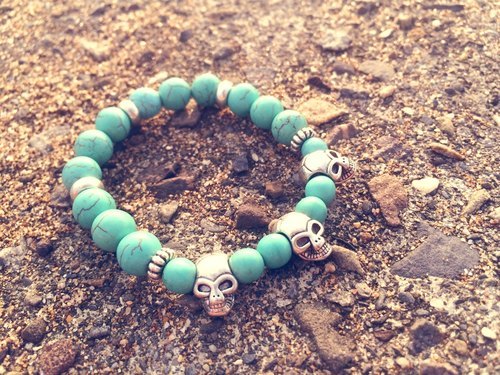 Green Agate - skull models