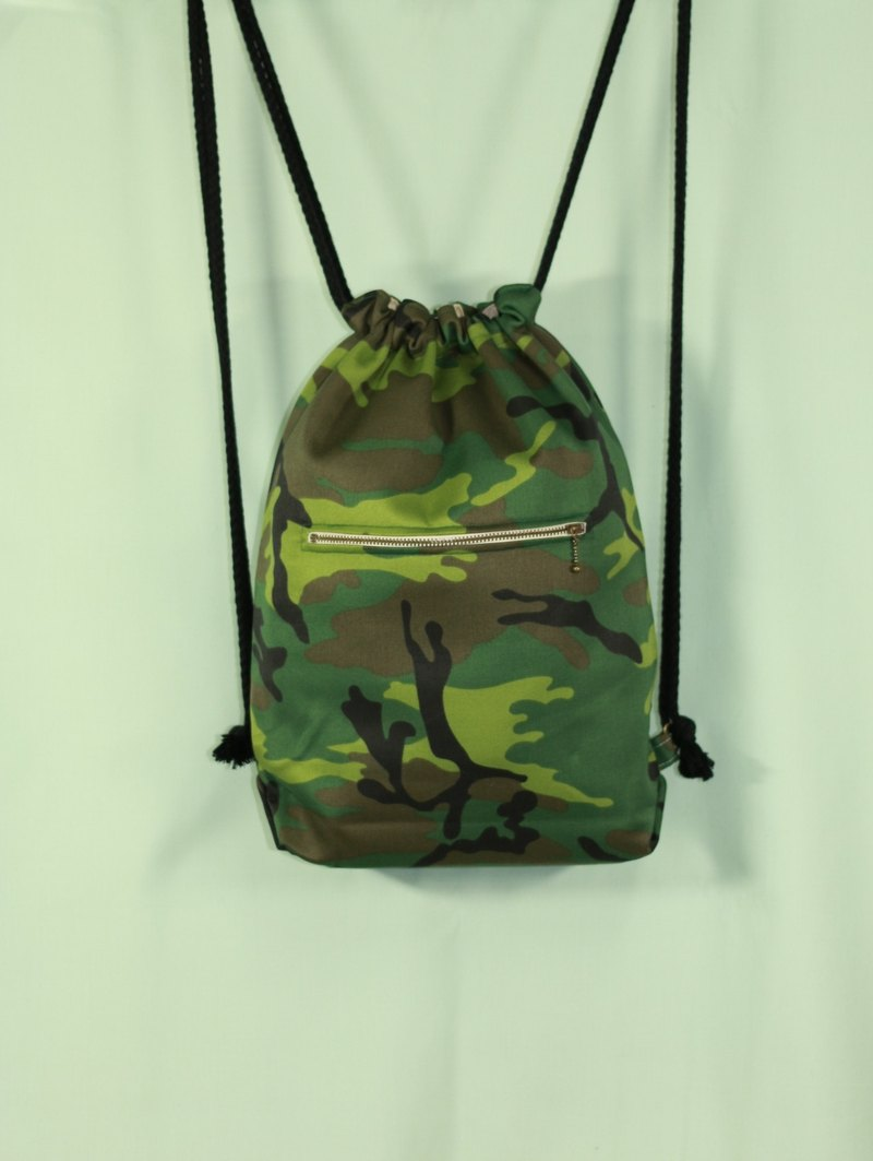 Hammer Field camouflage backpack bundle after opening