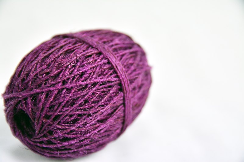 Hand twist twine - purple - fair trade