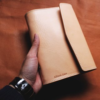 VULCAN Leather Note Loose-leaf A6 Italian A-grade vegetable tanned cow leather can be purchased with embossed service