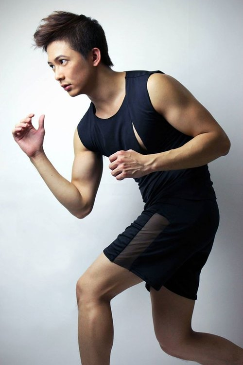 Taiwanese designer brand men's fashion design casual sport style black shorts