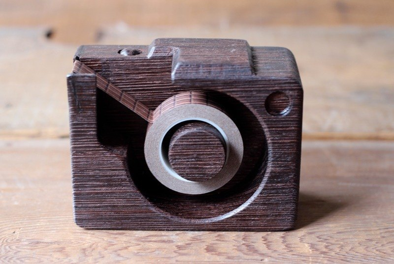 Mini wooden camera ▣ tape dispenser