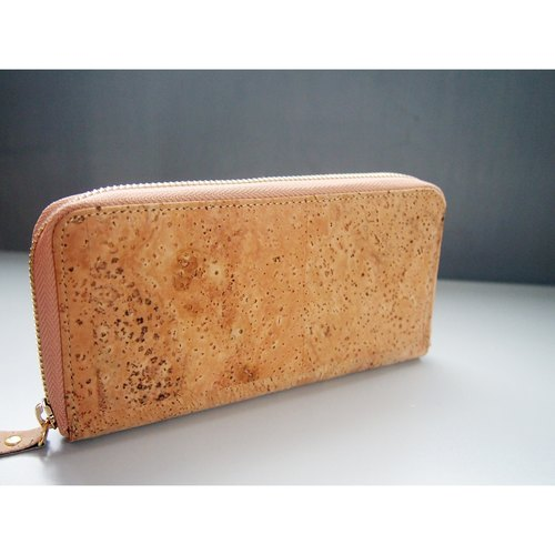 Cork Long Wallet with Zipper Women Clutch Purse bags phone wallet phone wallet purse Birthday Gift Fashion Famous