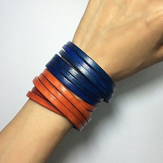 Handmade genuine leather bracelet classic classic series - the wisdom of the navy blue