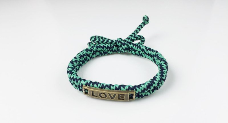 LOVE braid series (Valentine's Day Collection) - Green Black comprehensive color