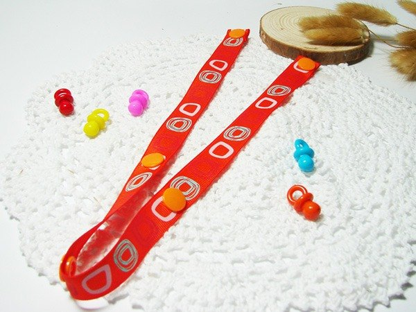 Cheerful. Strollers Toys anti-out rope lanyard, anti-out chain Sophie good partner (orange-orange)