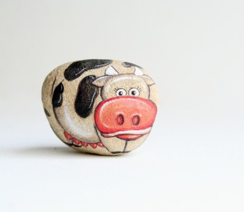Cow (Stone painting)