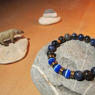 ▲ sound of the waves / handmade original stone X brass bracelet