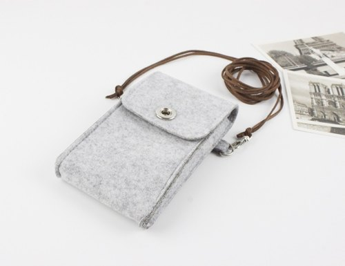 Original handmade light gray felt Apple iphone 6 / iphone 6 / iphone 8 / iphone 8 plus / iphone X protective sleeve blankets iphone 6 / iphone 6S mobile phone sets of mobile phone bags (can be tailored) - 012