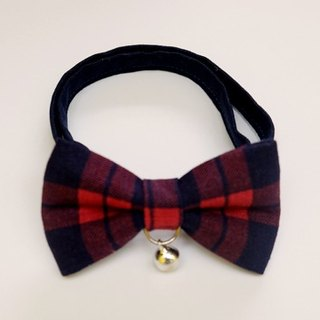 [Miya ko.] Handmade cloth grocery cats and dogs tie / tweeted / bow / handsome plaid / Japanese minimalist / pet collar / collar