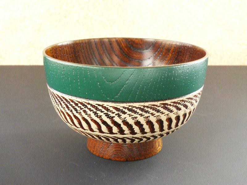 "[Christmas gift] bowls ""random nicks Design"" / matte green x white"