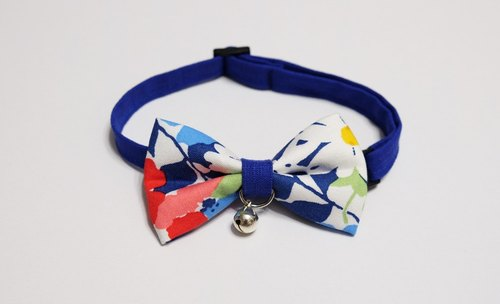 [Miya ko.] Handmade cloth grocery cats and dogs tie / tweeted / bow / lovely flowers / vintage / pet collars