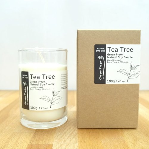 "[Green machine Garden Green Plus] hand-natural soy candle oil ""tea"" (100g)"