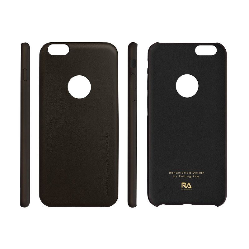 [Rolling Ave.] Ultra Slim iphone 6s plus / 6 plus leather jacket feel - bronze black