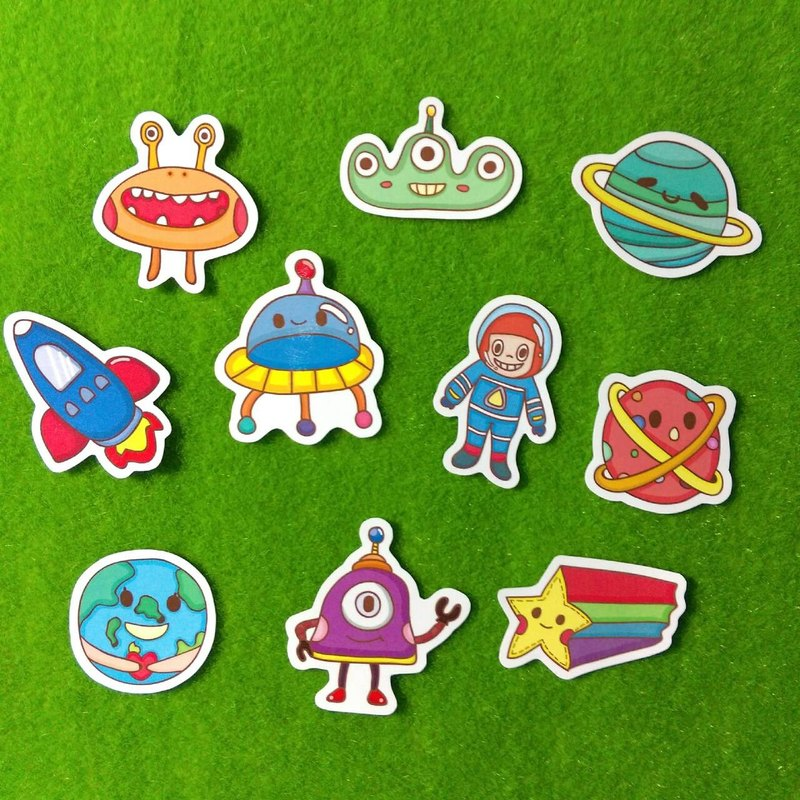 Space Universe Planet / Sticker Pack