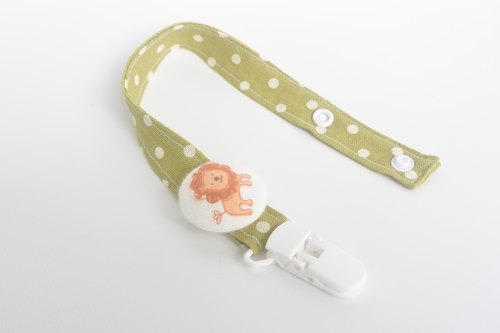 Cloth deduction feel pacifier chain - Lion