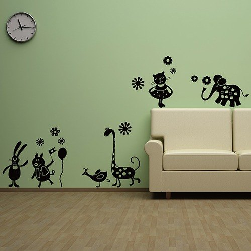 """Smart Design"" Creative trace ◆ animal garden wall stickers"