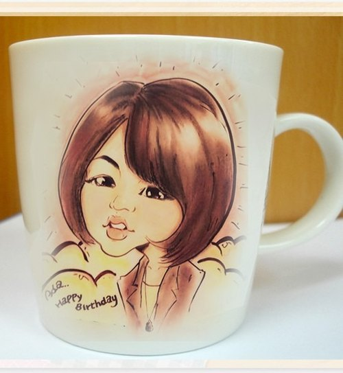 ★ GiftPaint ★ portraits ceramic mug customized price [Double]