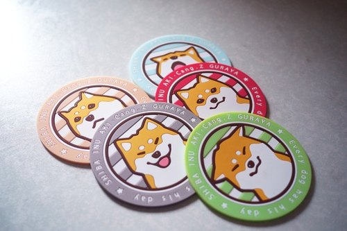 [Barn house] Shiba Small Things series -pvc heat coaster 10cm (six whole paragraph containing the hidden one)