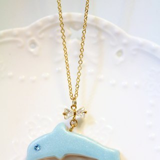Hand-made Waltz - Marine Department ~ micro pearl necklace dolphin turn sugar cookies