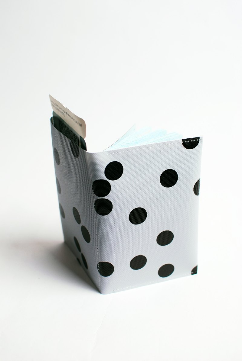 Gray little black spots. Geometric passport cover