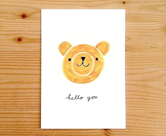 "Global illustrator Series - Nina Cosford Greeting Card "" HELLO YOU """