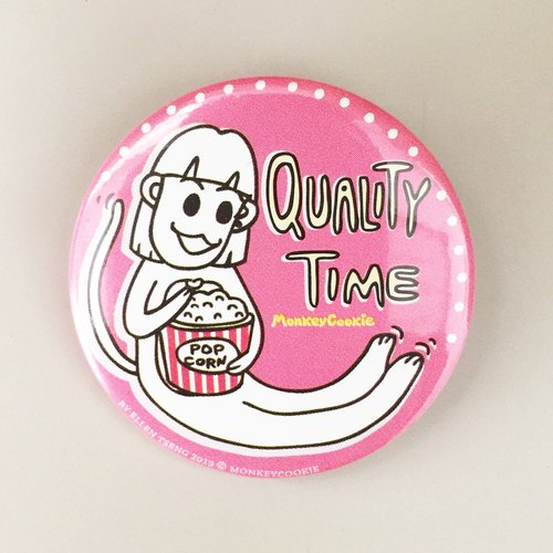 Ellen monkey series badge - a good time before the screen