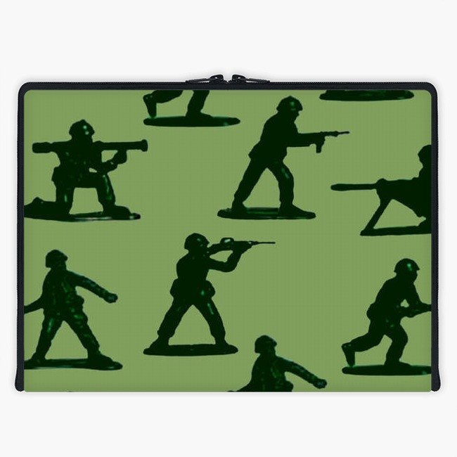 Axis - Custom 3-Sided Zipper Laptop Sleeve - 90s Army Soldiers Toys