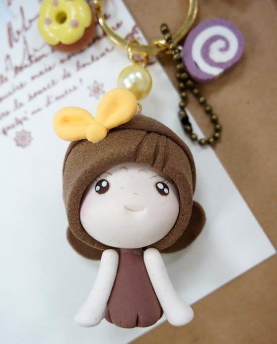 Koli girl doll handmade necklace strap Multifunction