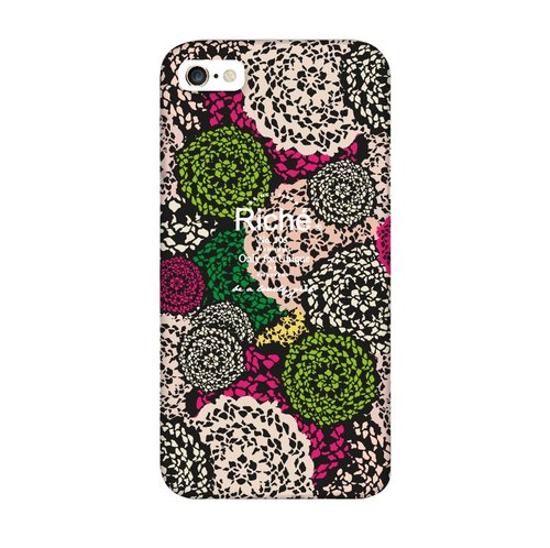 Black Fantasy Lace Mobile Shell