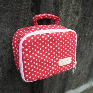 Dot multi-function storage universal bag / red
