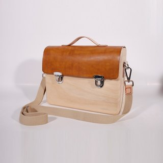 Wooden Business Tote Mini (Khaki)