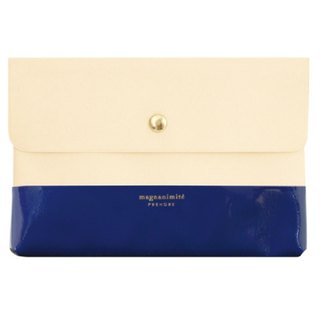 [Japanese] Prendre LABCLIP series File case pouch (button) dark blue