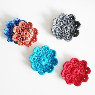 Flowers Coasters 100% cotton line hand crochet