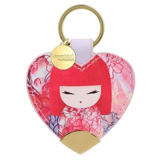 kimmidoll and blessing doll Yuka leather key ring