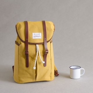 |100% handmade in Spain| Ölend Sienna Fabric| Leather |Laptop bag (Mustard)
